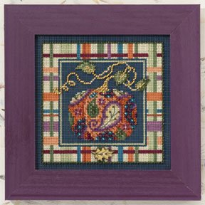 click here to view larger image of Paisley Pumpkin (counted cross stitch kit)
