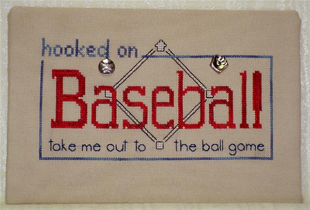 click here to view larger image of Hooked on Baseball (chart with charms/buttons)