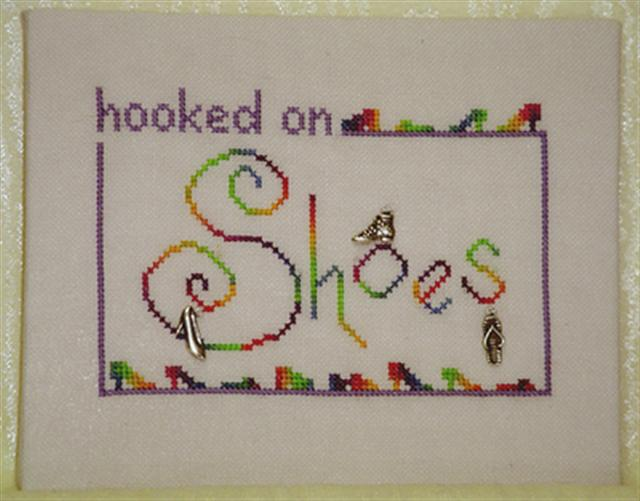 click here to view larger image of Hooked on Shoes (chart with charms/buttons)