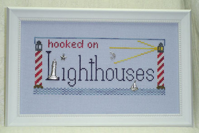 click here to view larger image of Hooked on Lighthouses (chart with charms/buttons)