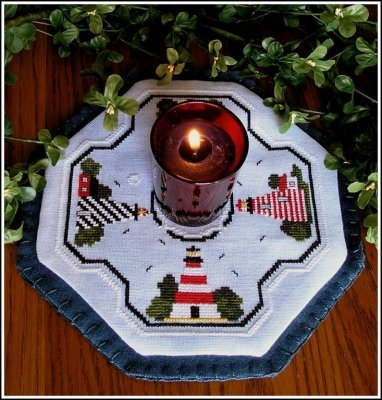 click here to view larger image of Lighthouse - Candle Mat (chart)