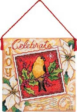 click here to view larger image of Joy Ornament (counted cross stitch kit)