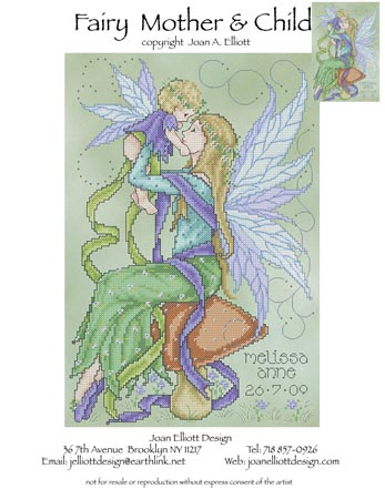 click here to view larger image of Fairy Mother and Child (chart)