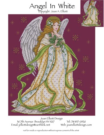 click here to view larger image of Angel in White (chart)
