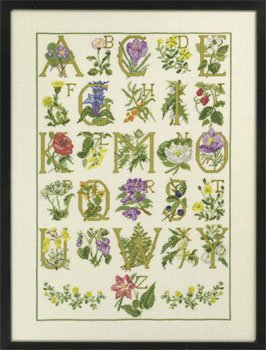 click here to view larger image of Flowers ABC (counted cross stitch kit)