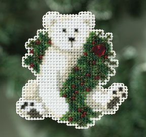 click here to view larger image of Holiday Polar Bear (2010) (counted cross stitch kit)