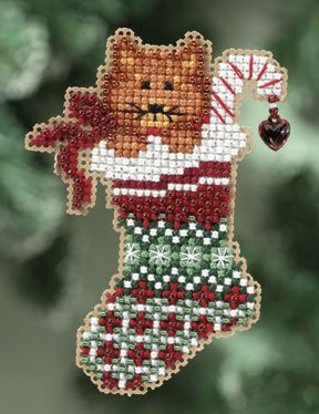 click here to view larger image of Kitty's Stocking  (2010) (counted cross stitch kit)