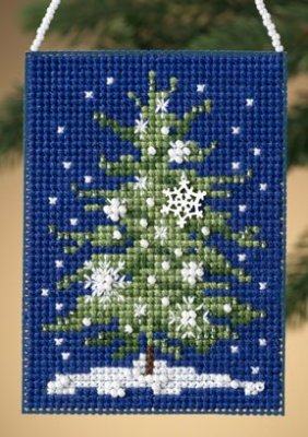 click here to view larger image of Snowflake Tree  (2010) (counted cross stitch kit)