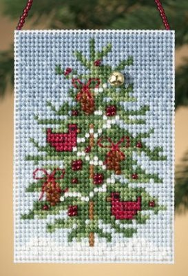 click here to view larger image of Cardinal Tree  (2010) (counted cross stitch kit)