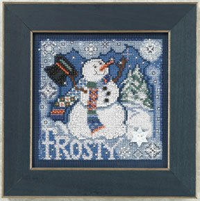 click here to view larger image of Frosty Snowman (counted cross stitch kit)