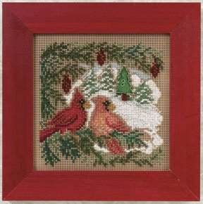 click here to view larger image of Cardinal Forest (counted cross stitch kit)