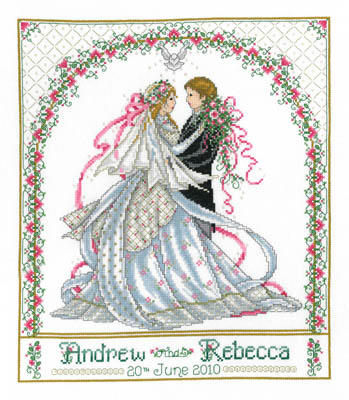 click here to view larger image of Rose Bower Wedding Sampler (chart)
