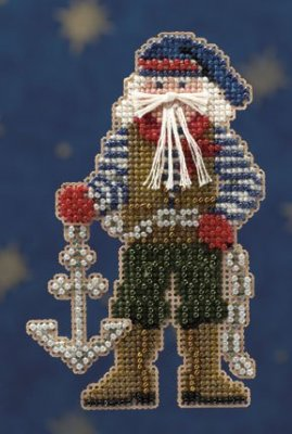click here to view larger image of Boatswain Santa (2010) (counted cross stitch kit)