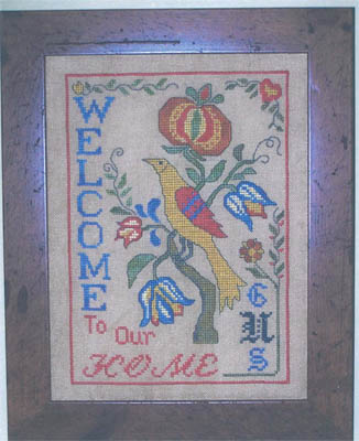 click here to view larger image of Fraktur Bird Welcome (chart)