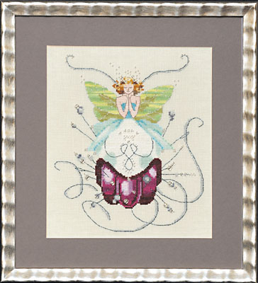 click here to view larger image of Stitching Fairies - Pincushion Fairy (counted cross stitch kit)