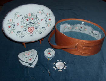 click here to view larger image of Keep Love In Thy Heart - Shaker Sewing Box (chart)