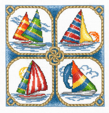 click here to view larger image of Four Sailboats (chart)
