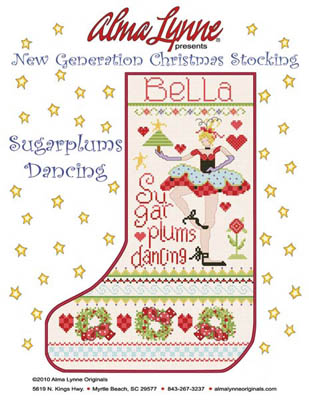 click here to view larger image of Sugarplums Dancing Stocking (Bella) (chart)