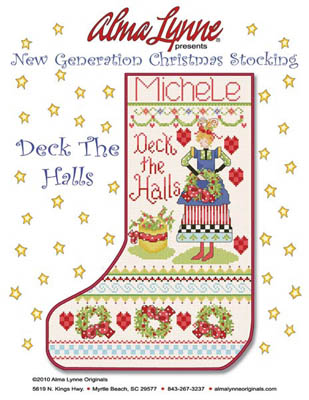 click here to view larger image of Deck The Halls Stocking (Michele) (chart)