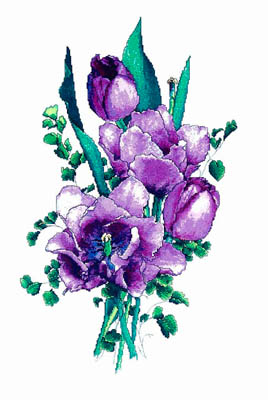 click here to view larger image of Lavender Tulips (chart)