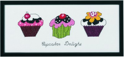 click here to view larger image of Cupcakes (kit) (counted cross stitch kit)