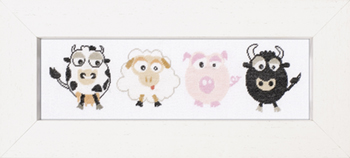 click here to view larger image of Cow/Sheep/Pig/Bull - 27ct (counted cross stitch kit)