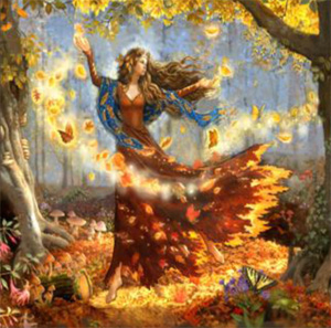 click here to view larger image of Fall Fairy (counted cross stitch kit)