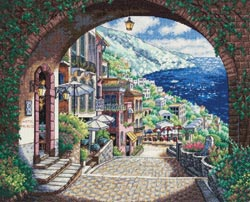 click here to view larger image of Coastal View (counted cross stitch kit)