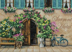 click here to view larger image of Sorrento Hotel (counted cross stitch kit)