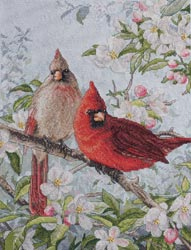 click here to view larger image of Cardinals (counted cross stitch kit)