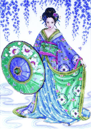 click here to view larger image of Garden Geisha (counted cross stitch kit)