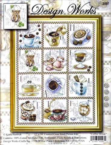 click here to view larger image of Coffee Break (counted cross stitch kit)