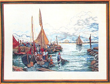 click here to view larger image of Fishing Harbor (counted cross stitch kit)