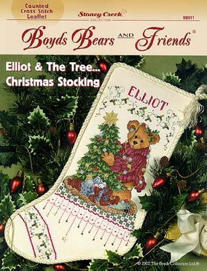 click here to view larger image of Elliot & The Tree - Christmas Stocking (chart)