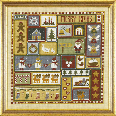 click here to view larger image of Christmas Patchwork Sampler (KIT) (counted cross stitch kit)