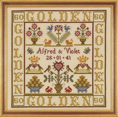 click here to view larger image of Golden Anniversary (Kit) (counted cross stitch kit)