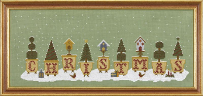 click here to view larger image of Christmas Pots (Kit) (counted cross stitch kit)