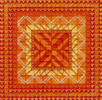 click here to view larger image of Color Delights - Tangerine (counted canvas chart)