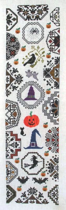 click here to view larger image of Halloween Quaker Bellpull (chart)