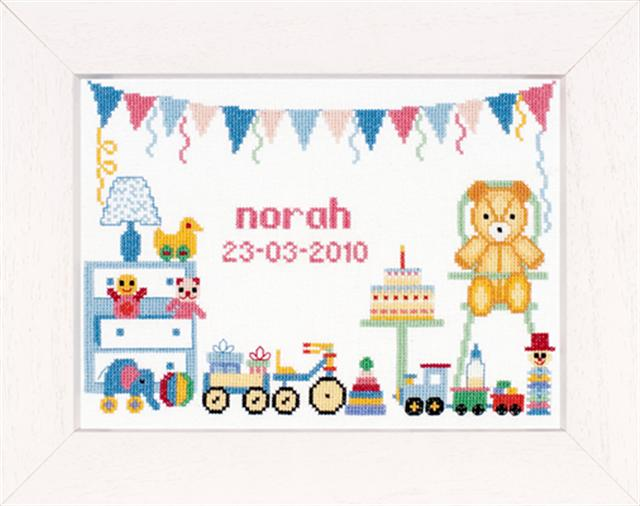 click here to view larger image of First Birthday - 27ct (counted cross stitch kit)
