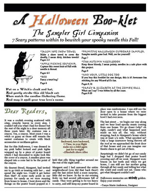click here to view larger image of Sampler Girl Companion - Halloween Booklet (chart)