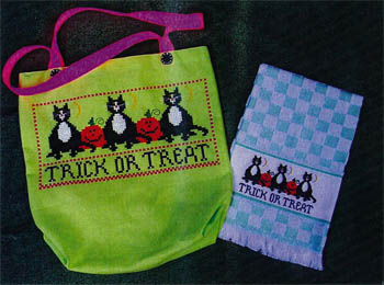 click here to view larger image of Trick or Treat Tote and Towel (chart)