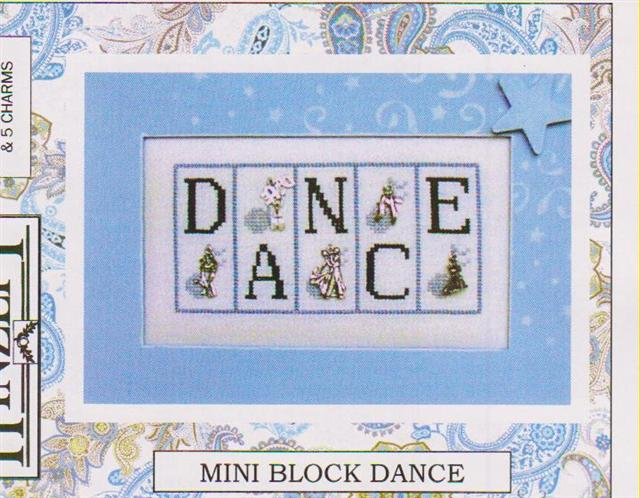 click here to view larger image of Dance (Mini Block) (chart with charms/buttons)