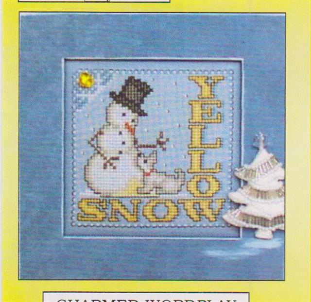 click here to view larger image of Yellow/Snow - Charmed Wordplay (chart with charms/buttons)