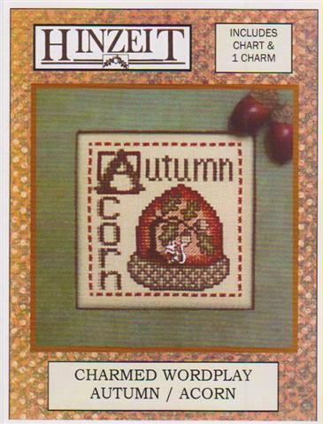 click here to view larger image of Autumn/Acorn - Charmed Wordplay (chart with charms/buttons)