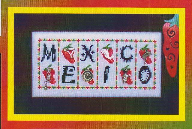 click here to view larger image of Mexico - Mini Blocks (chart with charms/buttons)