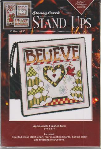 click here to view larger image of Christmas Believe (Stand up) (chart with charms/buttons)