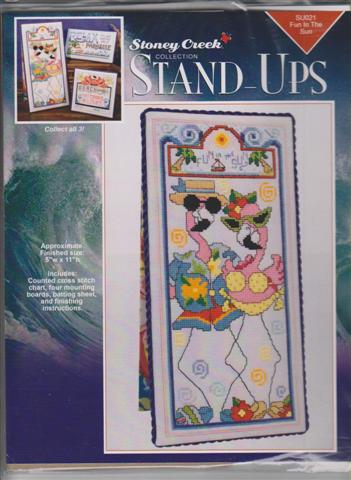 click here to view larger image of Fun In The Sun - Stand Ups (chart with charms/buttons)