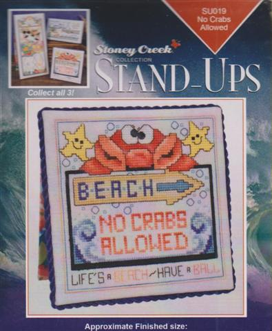 click here to view larger image of No Crabs Allowed - Stand Ups (chart with charms/buttons)