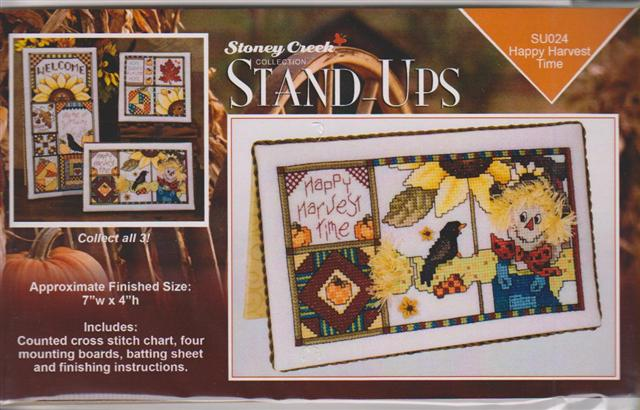 click here to view larger image of Happy Harvest - Stand Ups (chart with charms/buttons)